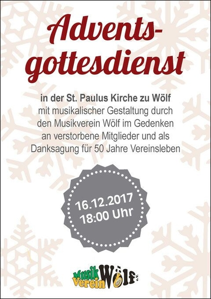 Adventsgottesdienst am 16.12.